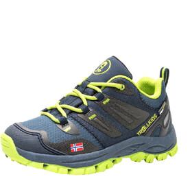 TROLLKIDS Rondane Hiker Low Shoes Kids, blauw/geel